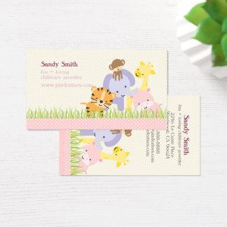 PixDezines Jungle of Fun Daycare Business Card