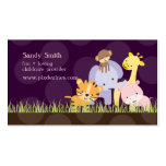 PixDezines Jungle of Fun Daycare, DIY colors Pack Of Standard Business Cards