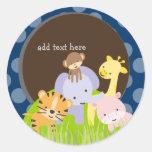 PixDezines Jungle stickers/customized background Classic Round Sticker
