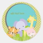 PixDezines Jungle stickers/DIY colors!!! Classic Round Sticker