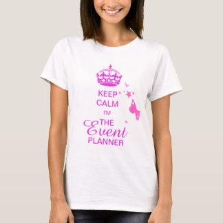 PixDezines Keep Calm/Event Planner/DIY text T-Shirt