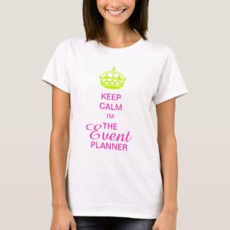 PixDezines Keep Calm/Neon Green Crown/DIY text T-Shirt