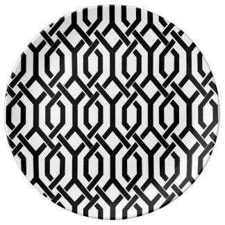 PixDezines kew trellis/DIY background color Porcelain Plate