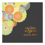 PixDezines Kiku (chrysanthemum), citrus color Invitation