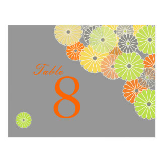 PixDezines Kiku (chrysanthemum), citrus color Postcard