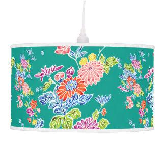 PixDezines kiku/vintage kimono pattern/DIY bckgrnd Hanging Lamp