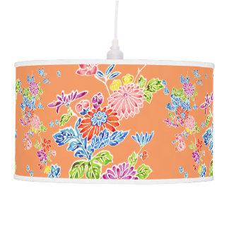 PixDezines kiku/vintage kimono pattern/DIY bckgrnd Pendant Lamp