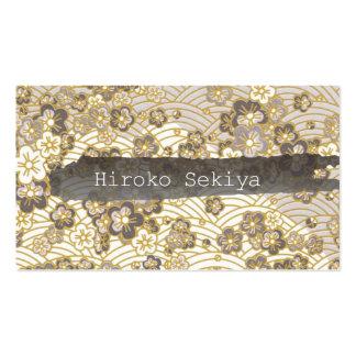 PixDezines kimono/faux chirimen/sakura Business Card Templates