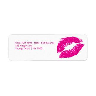 PixDezines kiss/lips/hot pink Label