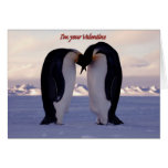 PixDezines Kissing Emperor Penguin Valentine's Cards