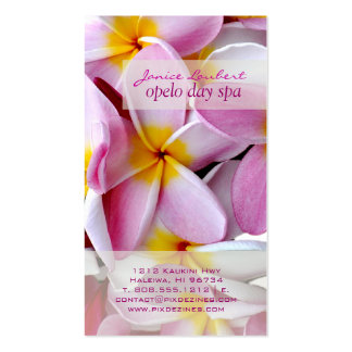 PixDezines kona pink plumeria Business Cards