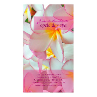 PixDezines kona pink plumeria Business Card Template