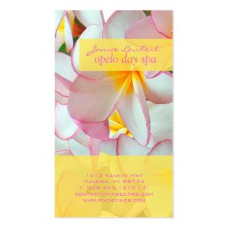 PixDezines kona pink plumeria Business Card Templates