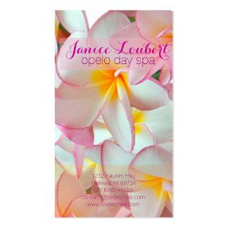 PixDezines kona pink plumeria Business Card