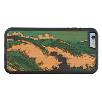 PixDezines konen las olas oceánicas del uehara, 上原 Funda De iPhone 6 Bumper Cerezo