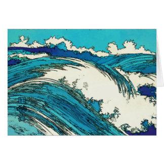 PixDezines konen las olas oceánicas del uehara, 上原 Tarjetas