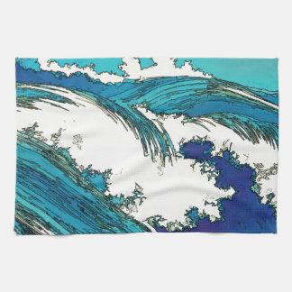 PixDezines konen las olas oceánicas del uehara, 上原 Toalla De Mano