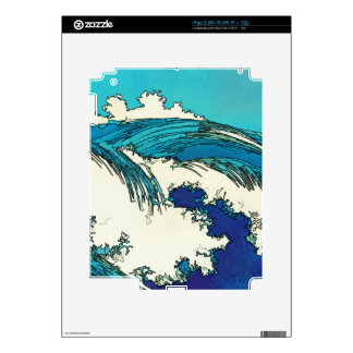 PixDezines konen uehara ocean waves, 上原 Decals For The iPad 2