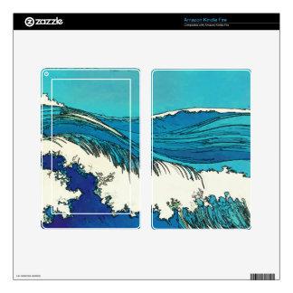 PixDezines konen uehara ocean waves, 上原 Kindle Fire Decals