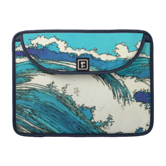 PixDezines konen uehara ocean waves, 上原 Sleeve For MacBooks