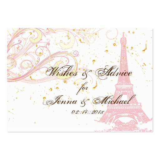 PixDezines la tour eiffel/paris Business Card Template