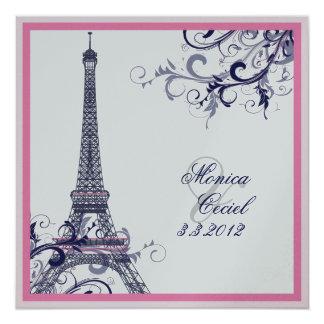 PixDezines la tour eiffel/paris Card