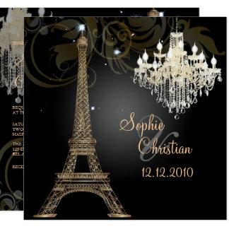 PixDezines LA TOUR EIFFEL/PARIS/CRYSTAL CHANDELIER Card
