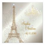 PixDezines la tour eiffel/paris Custom Invitations
