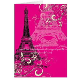 PixDezines la tour eiffel/paris Greeting Card
