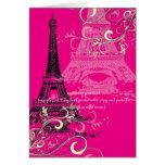 PixDezines la tour eiffel/paris Greeting Cards