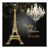 PixDezines la tour eiffel/paris Invitation