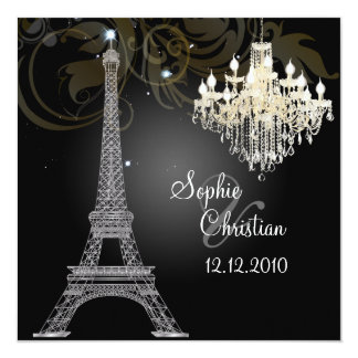 PixDezines la tour eiffel/paris Invitation