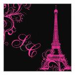 PixDezines la tour eiffel/paris Personalized Invitations