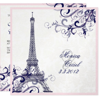 PixDezines la tour eiffel/paris/METALLIC SILVER Card