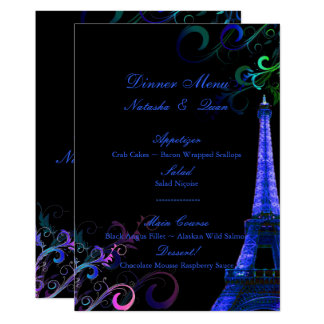 PixDezines la tour eiffel/paris/Neon Lights Card