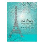PixDezines la tour eiffel/paris Post Cards