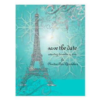 PixDezines la tour eiffel/paris Postcard