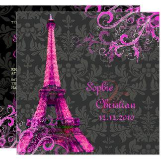 PixDezines LA TOUR EIFFEL/PINK/DIY COLOR Card