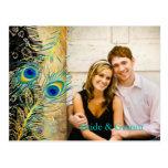 PixDezines lace peacock/DIY event+background color Postcard