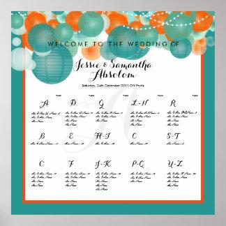 PixDezines lanterns/seating chart Poster