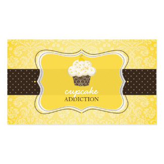PixDezines lemon zest cupcake/pâtisserie Business Card