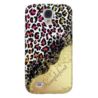 PixDezines leopard+faux lace Samsung Galaxy S4 Cover