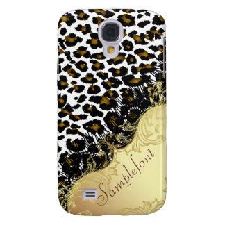PixDezines leopard+faux lace Galaxy S4 Case