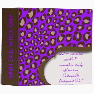 PixDezines Leopard print binders