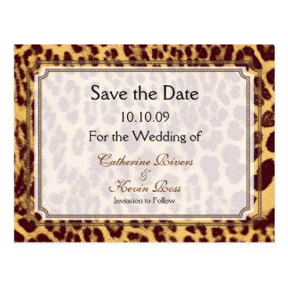 PixDezines Leopard print/DIY text/ save the date Postcard