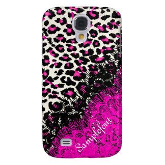 PixDezines leopard spots/faux lace Samsung S4 Case