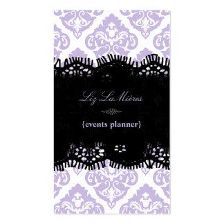 PixDezines Lilac Olivia Damask/diy background Business Card