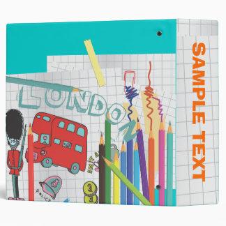 PixDezines London Bus Doodles Binder
