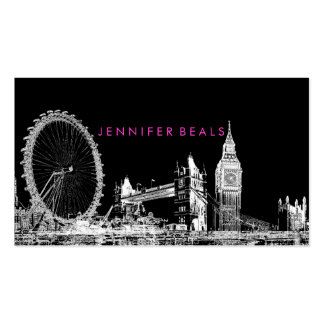 PixDezines london eye skyline ♥ Double-Sided Standard Business Cards (Pack Of 100)