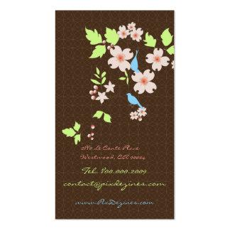 PixDezines love birds+dogwood branch/diy colors Business Card Template